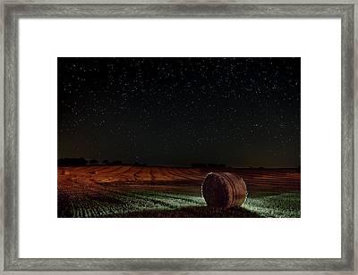 Fields At Night Framed Print