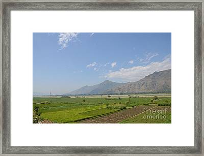 Framed Print featuring the photograph Fields Mountains Sky And A River Swat Valley Pakistan by Imran Ahmed