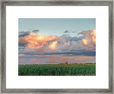 Fields Of Corn Framed Print by Heather Allen