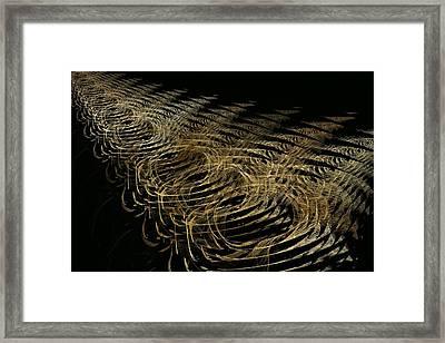 Golden Fields Of Gossamer Framed Print