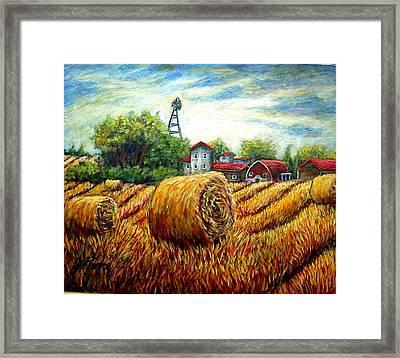 Fields Of Hay Framed Print by Sebastian Pierre