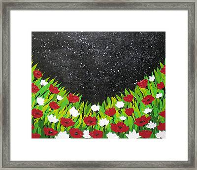 Fields Of Joy 2 Framed Print by Cathy Jacobs