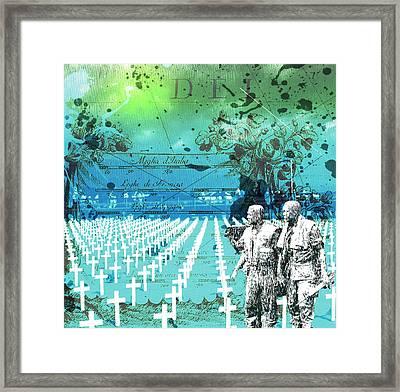 Fields Of Peace Framed Print by Diskrid Art