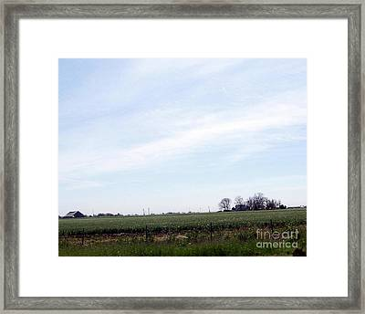 Framed Print featuring the photograph Fields Of Source by Bobbee Rickard