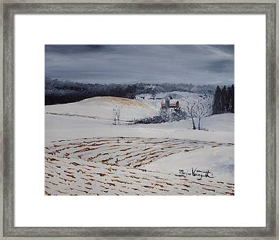 Fields Of White Framed Print