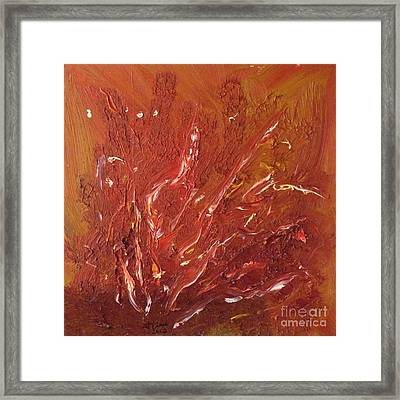Fields On Fire Framed Print by Gaby Tench