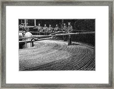 Field's Trans-atlantic Cable Framed Print