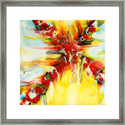 Fierce Cross Encaustic Framed Print