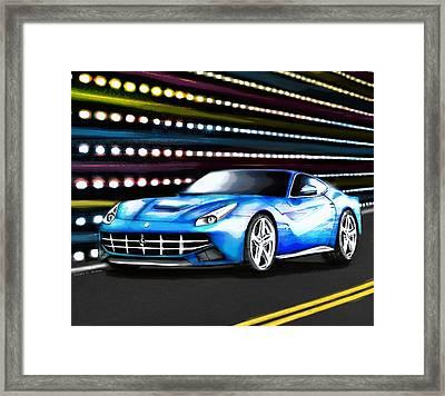 Fierce Ferrari Framed Print