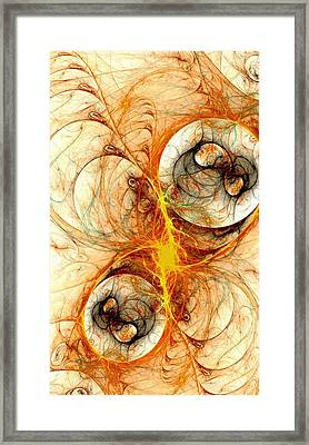 Fiery Birth Framed Print by Anastasiya Malakhova