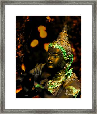 Fiery Bliss In Bronze Framed Print by Norman Gabitzsch