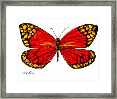 Fiery Butterfly Framed Print