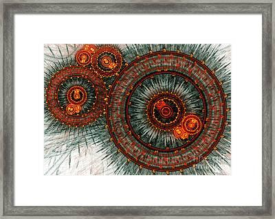 Fiery  Clockwork Framed Print
