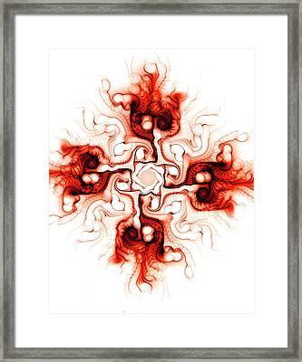 Fiery Cross Framed Print by Anastasiya Malakhova