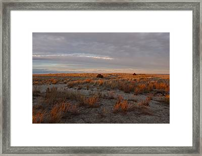 Framed Print featuring the photograph Fiery Dunes by Amazing Jules