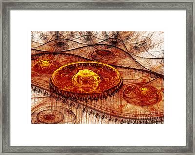 Fiery Fantasy Landscape Framed Print