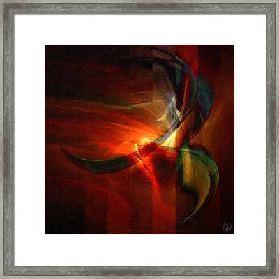 Fiery Flight Framed Print