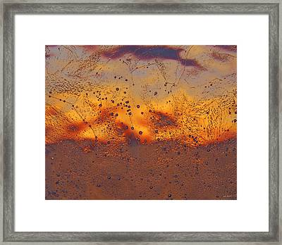 Fiery Horizon Framed Print by Sami Tiainen