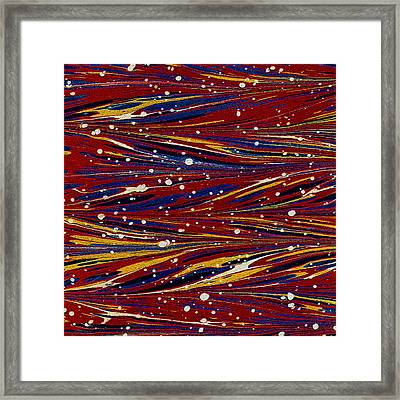 Fiery Lava Flow Abstract Framed Print