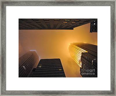 Fiery Look Up Framed Print by Graham Taylor