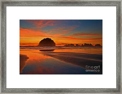 Fiery Ocean Stream Framed Print by Adam Jewell