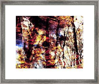 Fiery Reflections Framed Print by Shawna Rowe