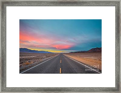 Fiery Road Though The Valley Of Death Framed Print