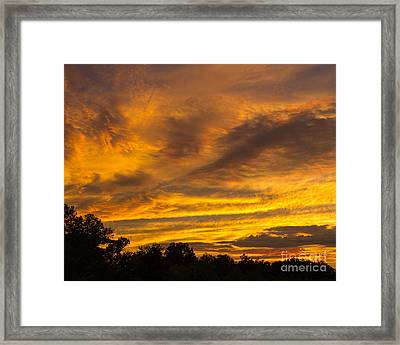 Framed Print featuring the photograph Fiery Skies by Dale Nelson