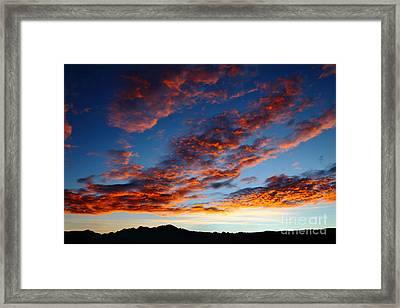 Fiery Skies Framed Print by James Brunker