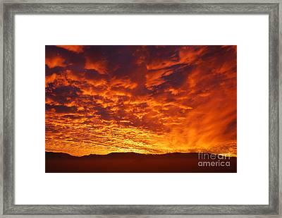 Fiery Sky Framed Print by Susan Hernandez