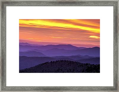 Fiery Smoky Sunset Framed Print by Andrew Soundarajan