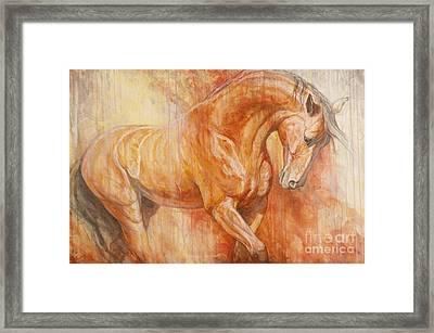 Fiery Spirit Framed Print by Silvana Gabudean Dobre