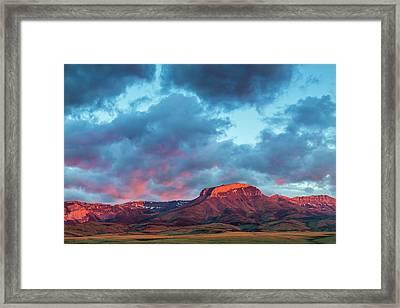 Fiery Sunrise Light Strikes Ear Framed Print by Chuck Haney