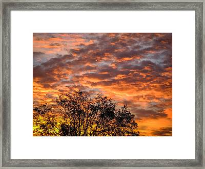 Fiery Sunrise Over County Clare Framed Print