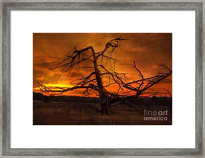 Fiery Sunrise Framed Print