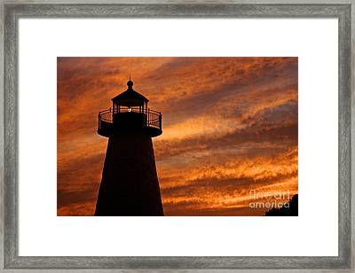 Fiery Sunset Framed Print by Amazing Jules