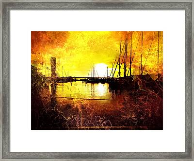 Fiery Sunset Framed Print by Beth Williams