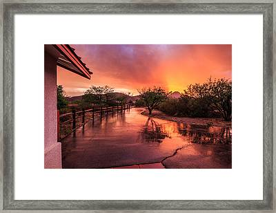 Fiery Sunset Framed Print by Beverly Parks