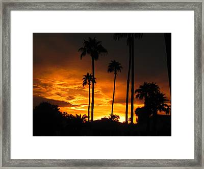Fiery Sunset Framed Print by Deb Halloran