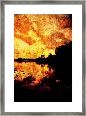 Fiery Sunset Framed Print by Randi Kuhne