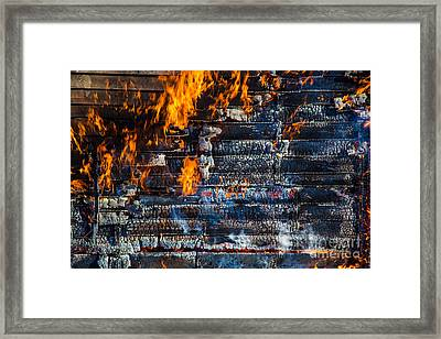 Fiery Transformation Framed Print by Andrew Slater