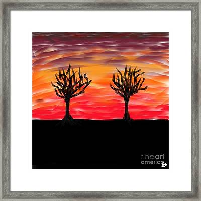 Fiery Twins Framed Print