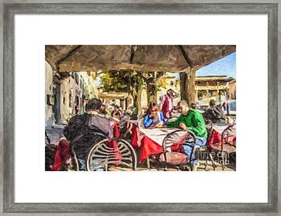 Fiesole Al Fresco Framed Print