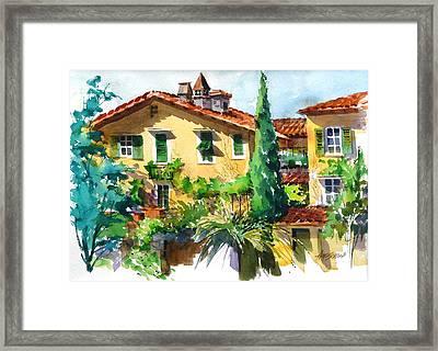 Fiesole Villa Framed Print by Art Scholz