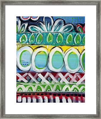 Fiesta - Colorful Painting Framed Print by Linda Woods