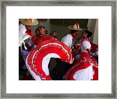Fiesta De Los Mariachis Framed Print