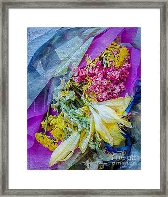 Fiesta In Blue Framed Print by Susan Cole Kelly Impressions