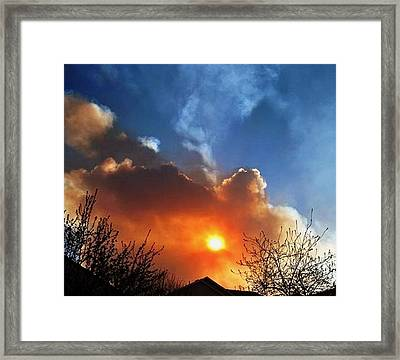 Fiesta In The Sky.. Framed Print