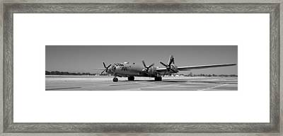 Fifi.  Enola Gay's B29 Superfortress Sister Visits Modesto Kmod. Framed Print