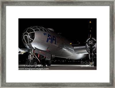 Fifi In The Dark Framed Print by Nathan Gingles